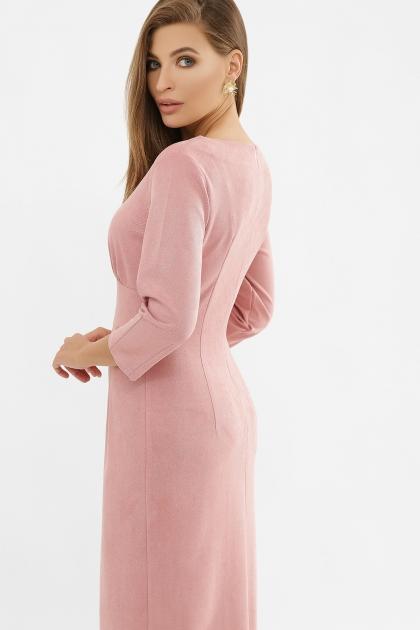 серое платье из замши. Платье Констанция 3/4. Цвет: пудра в интернет-магазине