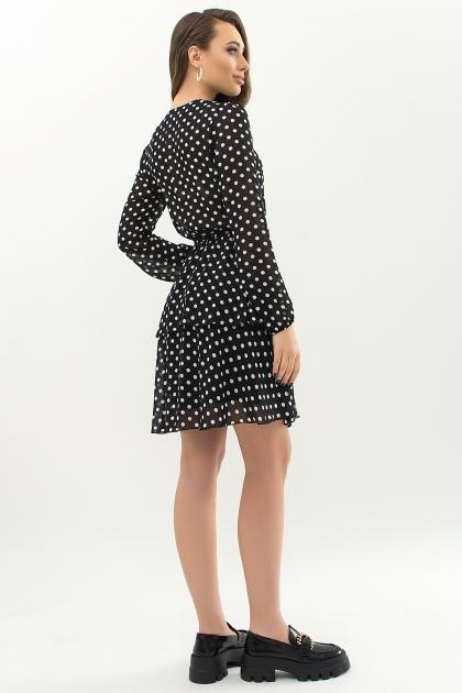 . Платье Алора д/р. Цвет: черный-белый горох цена