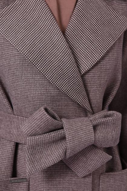 демисезонное песочное пальто. Пальто П-347-М-90. Цвет: 7-т.бежевый в интернет-магазине