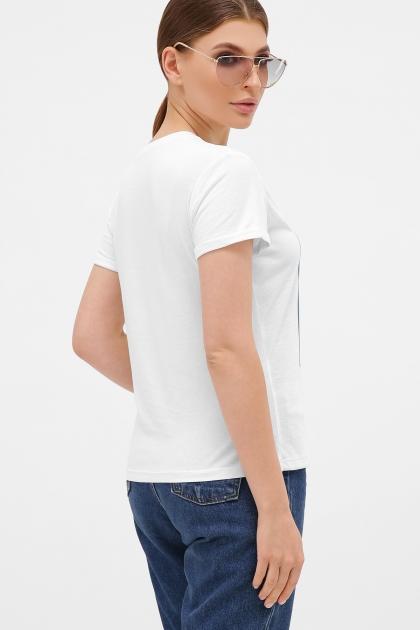 летняя футболка с перьями. голубой-Перья белые Футболка Boy-2. Цвет: белый купить