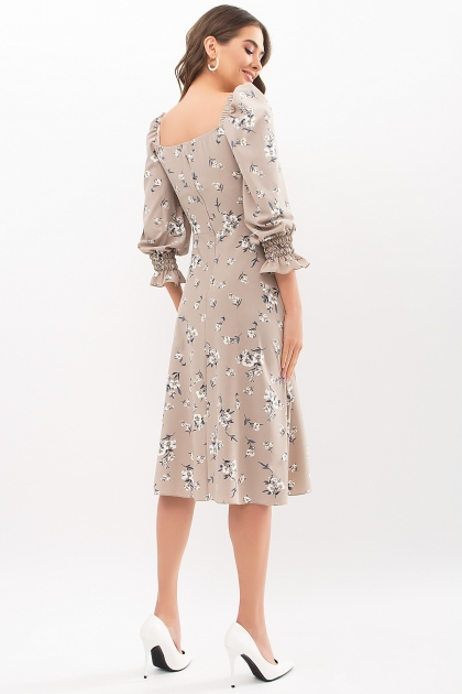 . Платье Пала д/р. Цвет: бежевый-белый букет в Украине