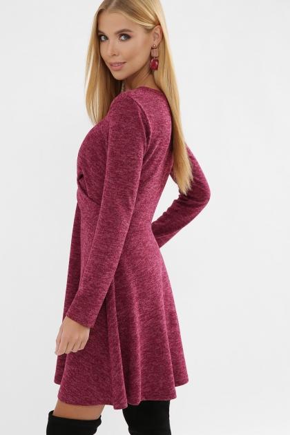 персиковое платье на осень-зиму. Платье Дафна д/р. Цвет: бордо в интернет-магазине