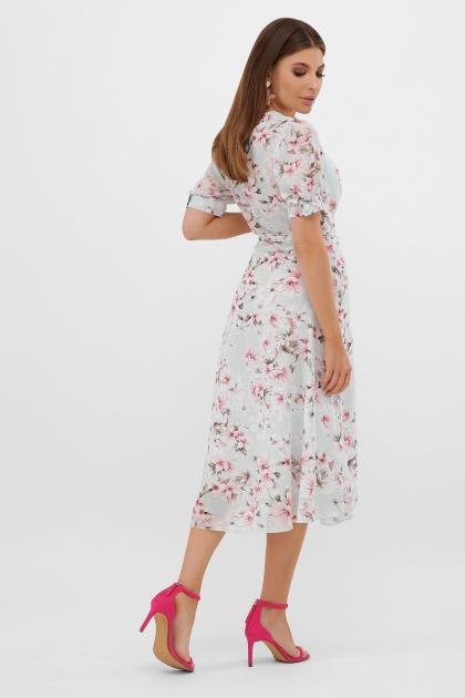 . Платье Алеста к/р. Цвет: мята-цветы розов. в интернет-магазине