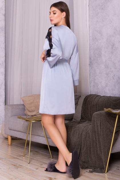. Халат Хадия д/р. Цвет: серо-голубой в интернет-магазине