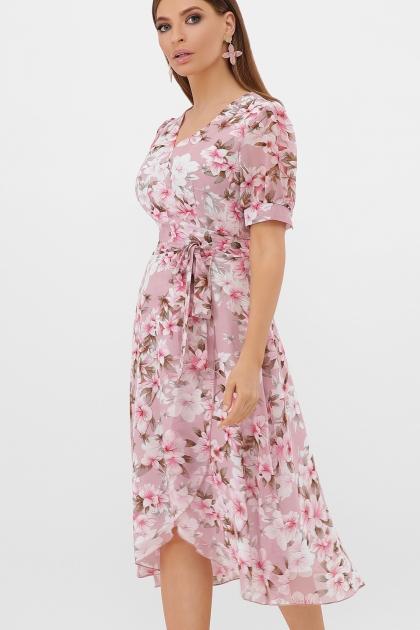 . Платье Алеста к/р. Цвет: розовый-цветы розов. цена