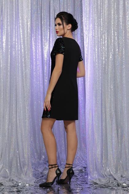 черное платье с пайетками. Платье Ираида к/р. Цвет: черный-хамелеон в Украине