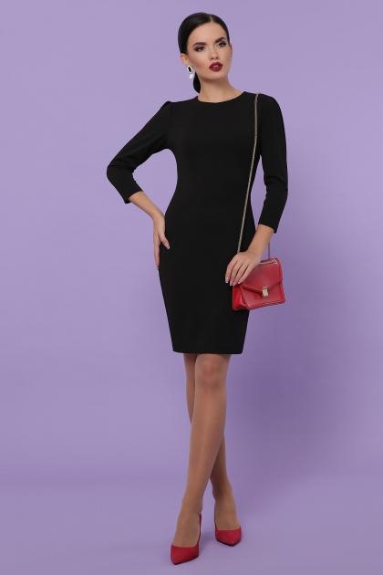 Платье выше колен темно-синего цвета. Платье Модеста д/р. Цвет: черный цена
