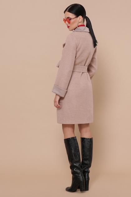 демисезонное песочное пальто. Пальто П-347-М-90. Цвет: 2-песочный цена