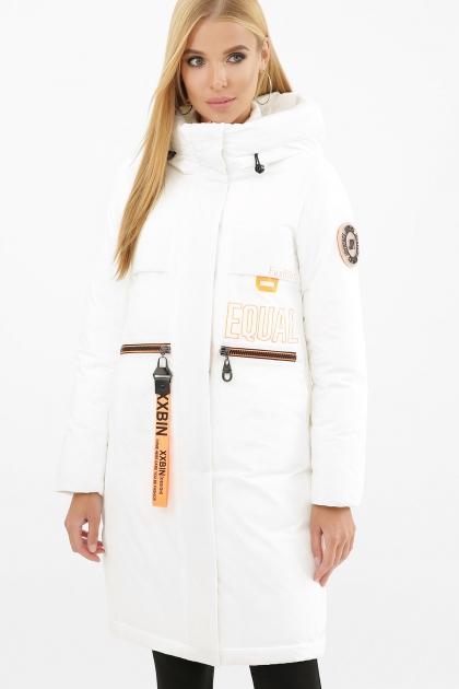 . Куртка 297. Колір: 26-белый-оранжевый цена