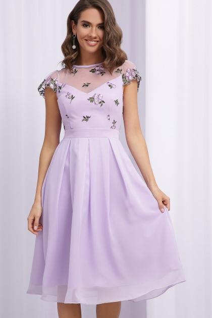нарядное платье лавандового цвета. Платье Айседора б/р. Цвет: лавандовый 1 цена