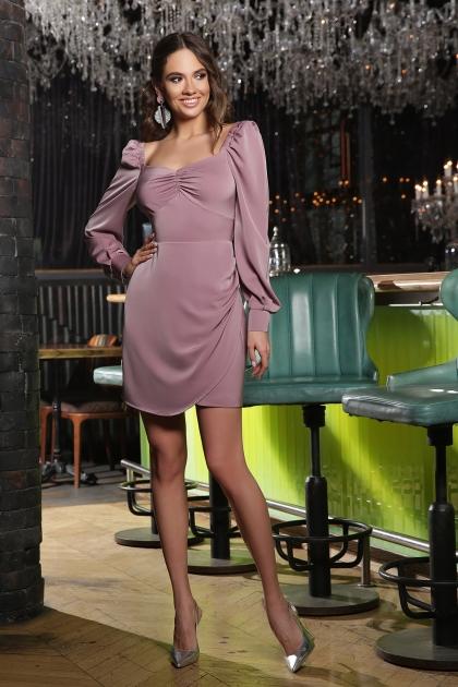 коктейльное серое платье. Платье Анелия д/р. Цвет: лиловый купить