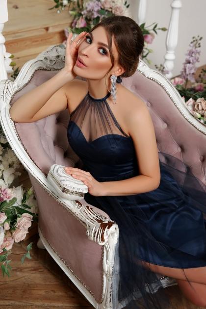 синее платье миди. Платье Джена б/р. Цвет: синий в интернет-магазине