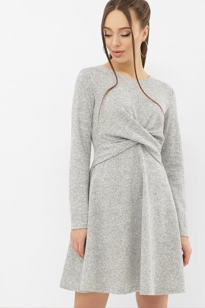 персиковое платье на осень-зиму. Платье Дафна д/р. Цвет: серый купить