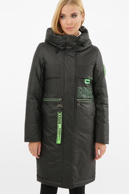 . Куртка 297. Колір: 01-черный-зеленый в интернет-магазине
