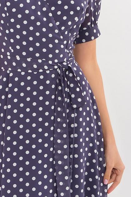 . Платье Алеста к/р. Цвет: синий - белый горох в Украине