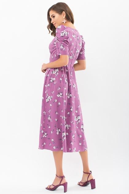 . Платье Фариза к/р. Цвет: фрез-белый букет цена