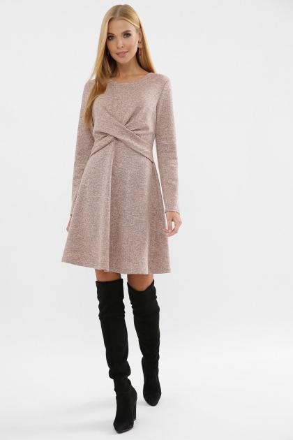 персиковое платье на осень-зиму. Платье Дафна д/р. Цвет: персик цена