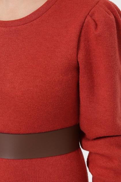 терракотовое платье из ангоры. Платье Жизель д/р. Цвет: терракот в интернет-магазине