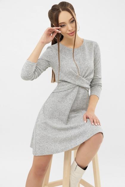 персиковое платье на осень-зиму. Платье Дафна д/р. Цвет: серый цена