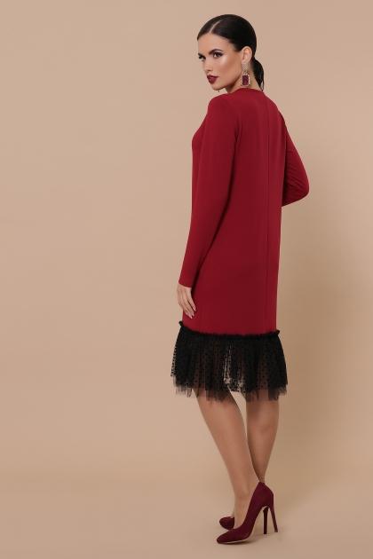 бордовое платье с фатином. Платье Касия д/р. Цвет: бордо в интернет-магазине