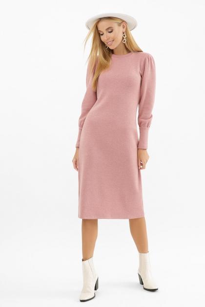 терракотовое платье из ангоры. Платье Жизель д/р. Цвет: пыльная роза в интернет-магазине