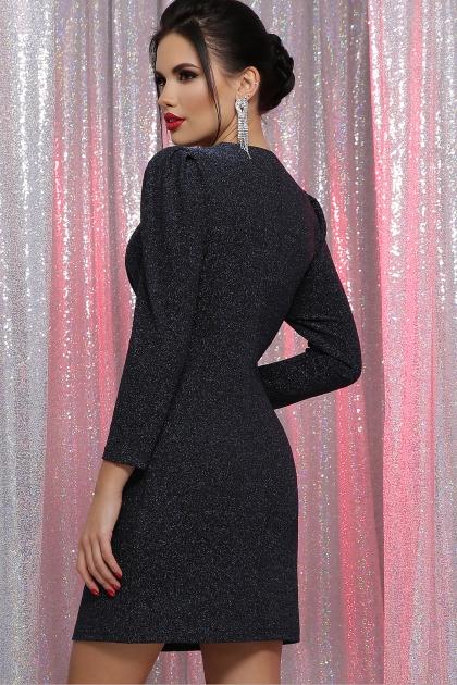 короткое платье с люрексом. Платье Нила 3/4. Цвет: черный-синий в интернет-магазине