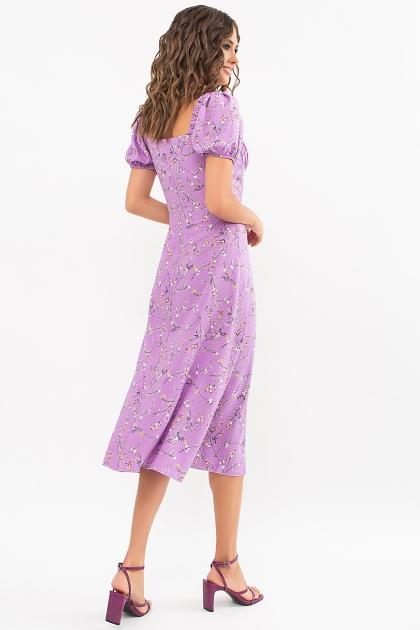 . Платье Билла к/р. Цвет: лиловый-цветы веточки в интернет-магазине