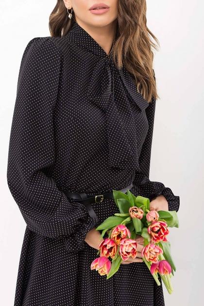 . Платье Дельфия д/р. Цвет: черный-белый м. горох в интернет-магазине