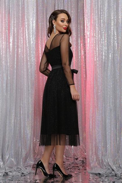 . Платье Маулина д/р. Цвет: черный недорого