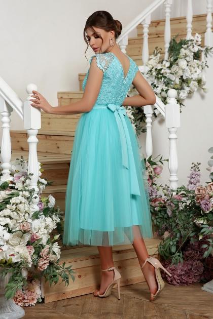 пышное платье миди. Платье Джуди б/р. Цвет: мята в интернет-магазине