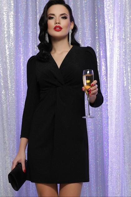 короткое платье с люрексом. Платье Нила 3/4. Цвет: черный-черный купить