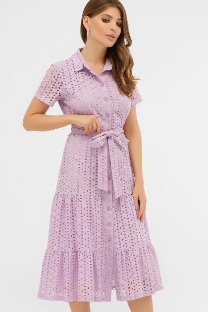 персиковое платье из хлопка. Платье Уника 1 к/р. Цвет: лавандовый цена