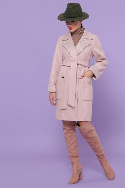 демисезонное песочное пальто. Пальто П-347-М-90. Цвет: 3-пудра купить