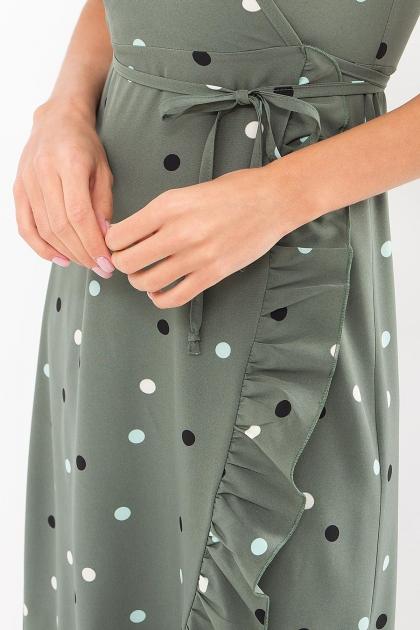 платье хаки в горошек. Платье Румия к/р. Цвет: хаки-горох цветной в Украине