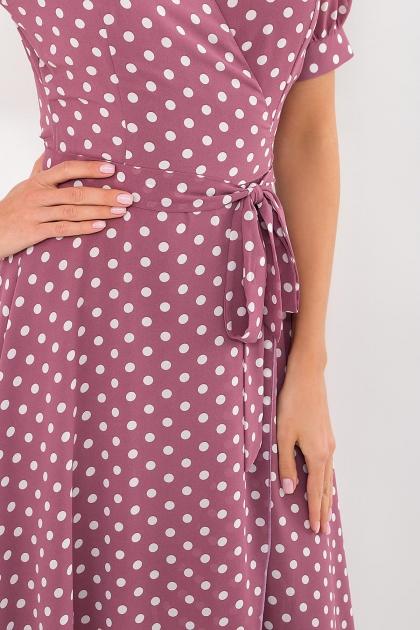 . Платье Алеста к/р. Цвет: фрез-белый горох в интернет-магазине
