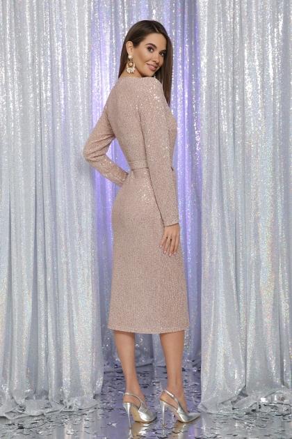 . Платье Залина д/р. Цвет: пудра в интернет-магазине