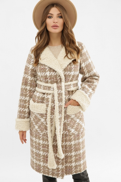 . Пальто ПД-14-100. Цвет: 2450-лапка коричн. цена