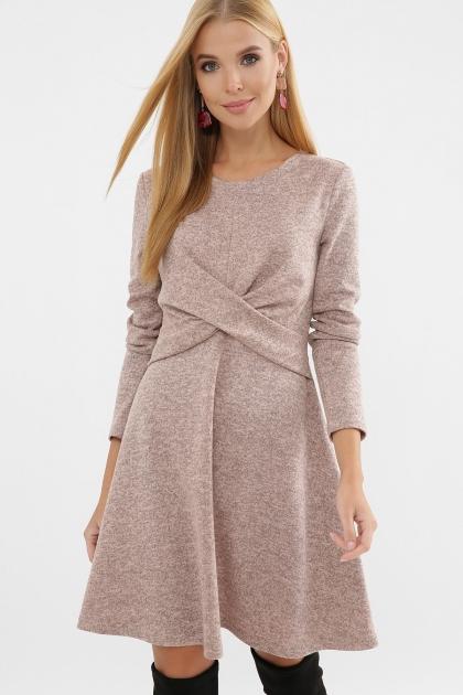 персиковое платье на осень-зиму. Платье Дафна д/р. Цвет: персик купить
