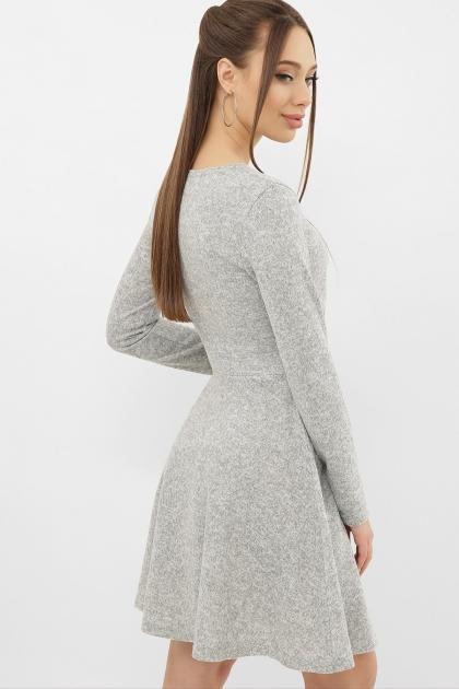 персиковое платье на осень-зиму. Платье Дафна д/р. Цвет: серый в интернет-магазине