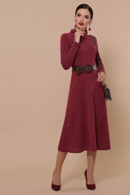 платье из ангоры коричневого цвета. Платье Ава д/р. Цвет: бордо цена