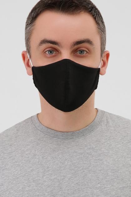 черная маска на лицо. Маска №5. Цвет: черный в интернет-магазине