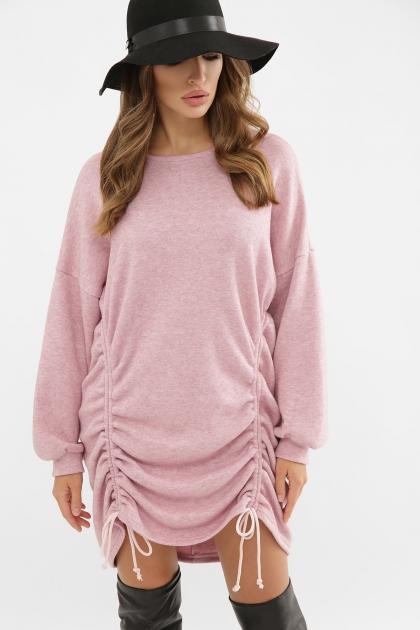 терракотовое платье с длинным рукавом. Платье Диля д/р. Цвет: розовый в Украине