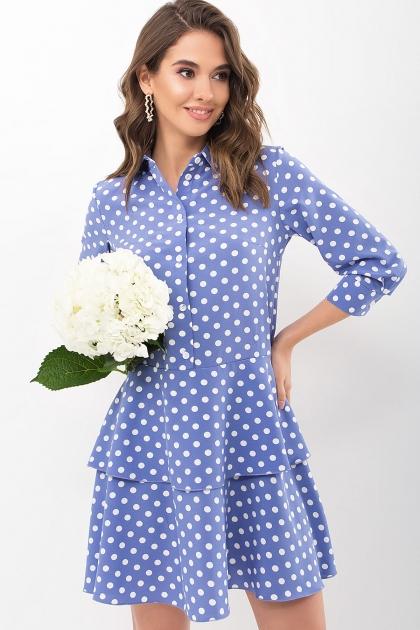 . Платье Салима 3/4. Цвет: джинс-белый горох купить