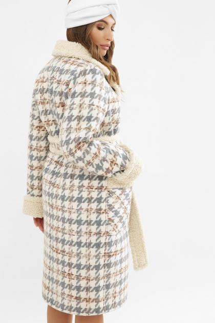 . Пальто ПД-14-100. Цвет: 2449-лапка серый в интернет-магазине