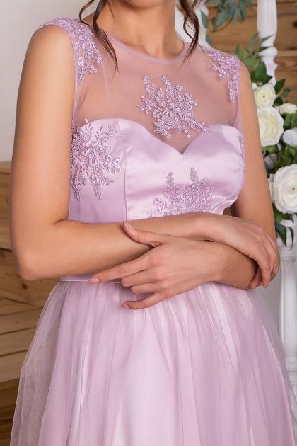 выпускное платье с фатиновой юбкой. Платье Паиса б/р. Цвет: св. сиреневый в интернет-магазине