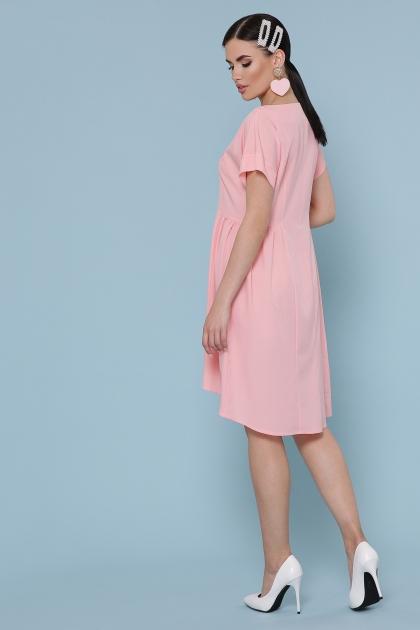 оливковое платье с коротким рукавом. Платье Вилена к/р. Цвет: персик цена