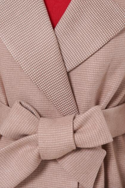 демисезонное песочное пальто. Пальто П-347-М-90. Цвет: 2-песочный в интернет-магазине