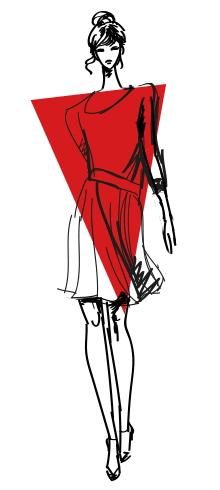 4 Тип фигуры перевернутый треугольник Как выбрать вечернее платье