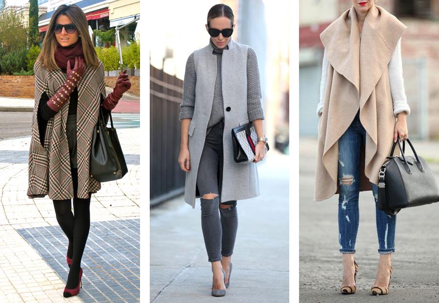 8. С чем носить пальто. Пальто без рукавов