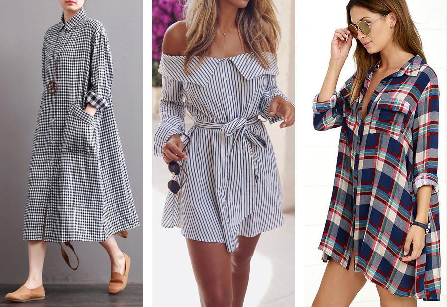 4d106d1531f Платья на каждый день 2018 Платья-рубашки